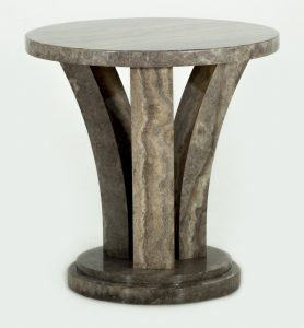 Amalfi End Table Pearl Grey Front