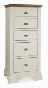 2_Hampstead-Soft-Grey-and-Walnut-5-Drawer-Tall-Chest