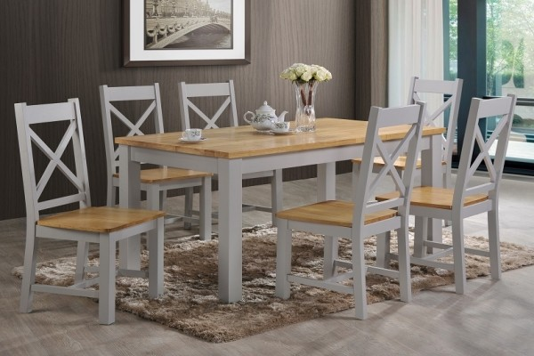 Rochester 5 Ft Dining Sets Larry O, Cream Coloured Dining Table And Chairs
