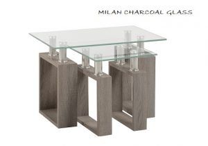 Milan Charcoal Glass Collection