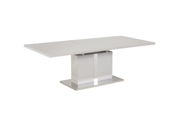 grey gloss ext table