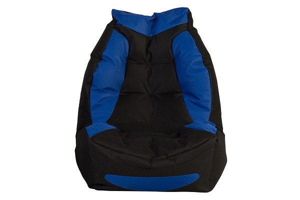 Gaming Blue/Black Bean Chair - front