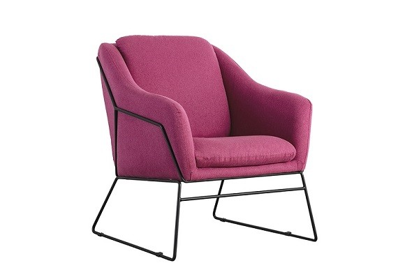 Berry Coloured Occasional Chair - 1